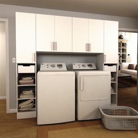 home laundry room cabinets modifi horizon 90 in w white tower storage laundry