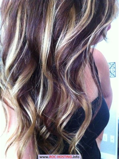 pinterest brown hair with blonde highlights more blonde on top then it would be perfect dark purple