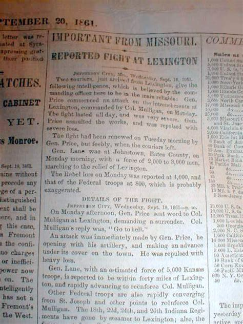 records from missouri newspapers 1861 1865 the civil war years books 6 1861 civil war newspapers battle of missouri
