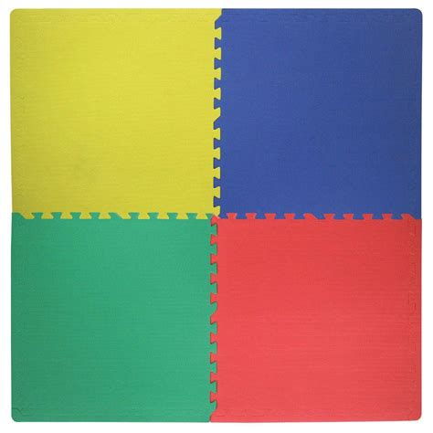 Play Mat Squares by Trafficmaster Primary Color 24 In X 24 In Square