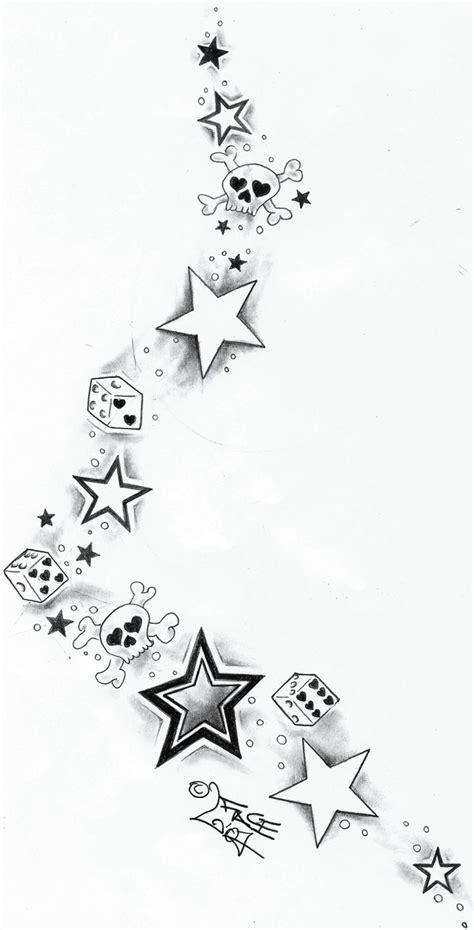 skull and star tattoo designs skull dices starstattoo design by 2face on deviantart