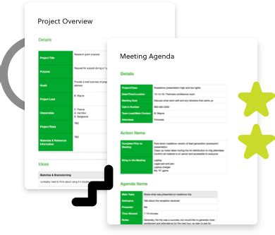 Templates Evernote Project Planning Template