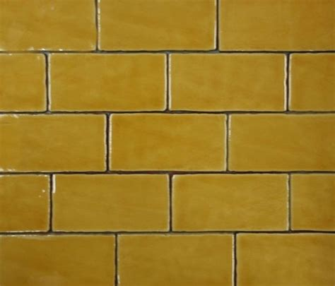 Handmade Subway Tiles - made subway tile in mustard 75x150 our products