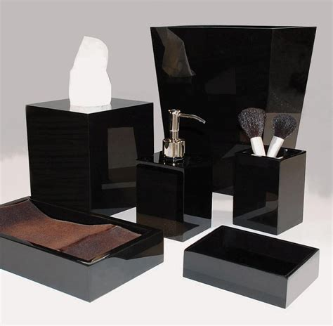 black bathroom accessories
