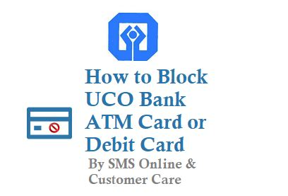 hotlist debit how to block uco bank atm card debit card by sms online