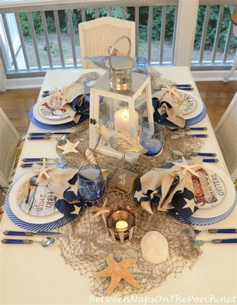 nautical table on nautical centerpiece