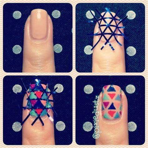 nail art tape strips tutorial nail art u2013 nail tutorial u2013 nail polish triangle