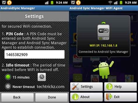 sync to android android sync manager wifi backup and sync data between android device and pc techtrickz