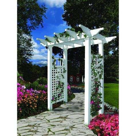 new arbors fairfield 50 in x 86 5 in vinyl arbor
