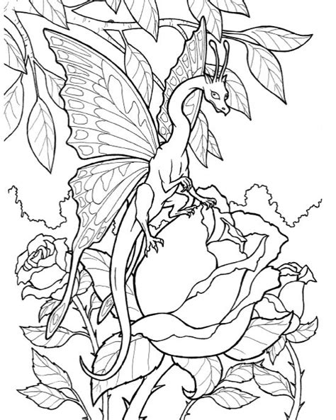 mythical creatures coloring pages patterns pinterest fantastical dragons more pages to color pinterest