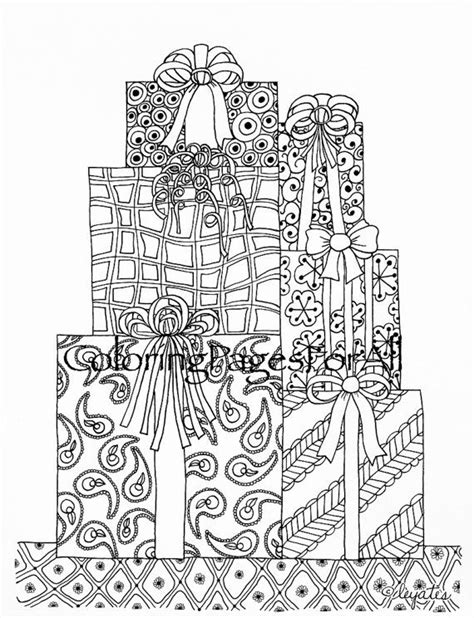 christmas zentangle coloring page 907 best images about cakes food stuff and presents on