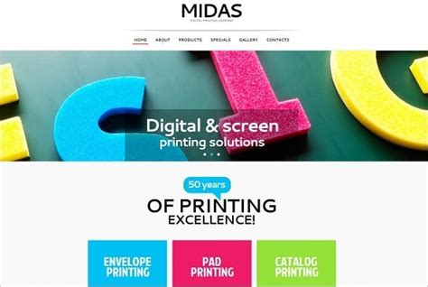Motocms Presents Best Selling Website Templates Of 2014 Printing Company Website Template