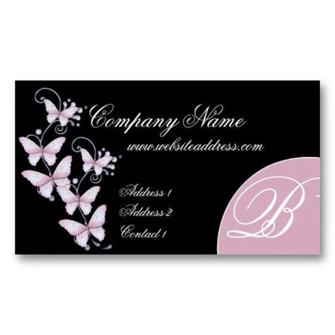 Butterfly Business Card Template by 27 Best Images About Business Cards Animal Non Pet On