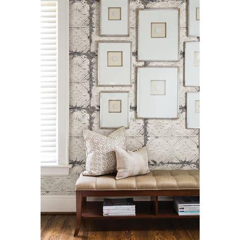 peel and stick wallpaper tiles nuwallpaper white and white vintage tin tile peel and