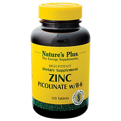 Natur Plus Zing Pikolinat zinc picolinate with b 6 30 mg 120 tablets by natures plus at the vitamin shoppe