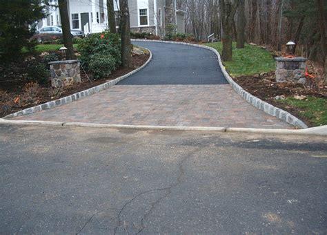 driveway apron photos of our work hrl landscape contractors bergen