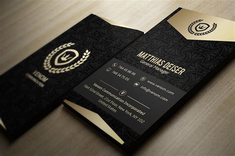 black and gold business card template 25 black and gold business card templates