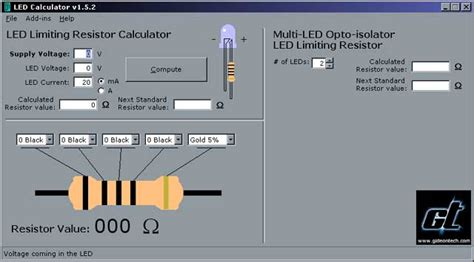 gideontech modification led limiting resistor calculator