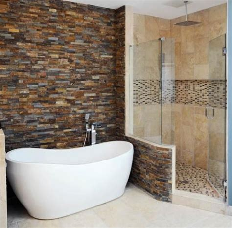 dream bathtub dream bathroom brick wall and deep stand alone tub