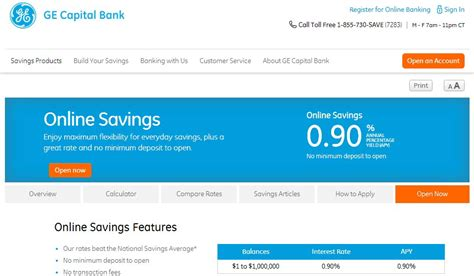 ge capital bank 11 banks that give you the highest interest rates