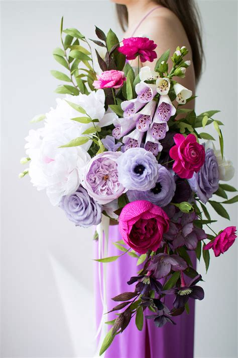 paper flower bridal bouquet tutorial how to use paper flowers in your wedding paper flower