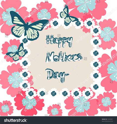 day frames happy mothers day frame stock vector 10197871