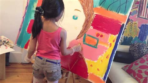 painting 9 year 7 year pop painting american doll saige