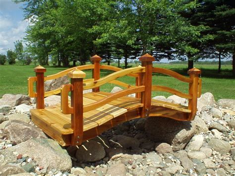 landscaping bridge garden bridges 4 52ft long elegant wooden landscape