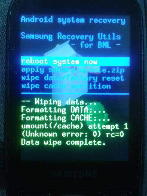 factory reset via adb hard reset samsung gt i5500 y semejantes mediante adb