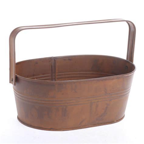 tin bathtubs rusty oval tub pails tubs and buckets rusty tin