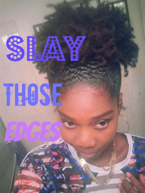 how to lay down wavy natural short curly hair lay down and slay those edges natural hair puff youtube