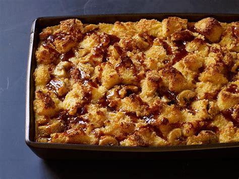 salted caramel banana bread pudding recipe food network