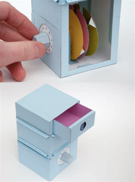 How To Make Paper Lock - diy fully functioning paper safe with combination lock