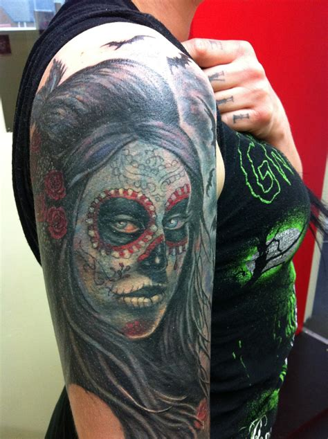 day of the dead tattoos sleeves day of the dead tattoos designs ideas and meaning