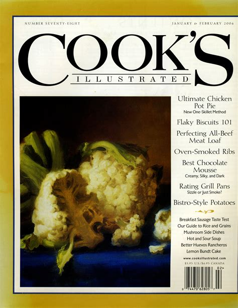 cook s illustrated cook s illustrated cover 2006 food illustration