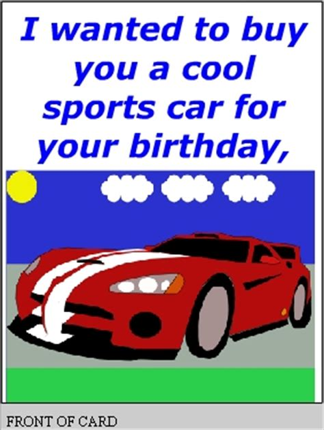 printable birthday cards cars free printable basketball birthday cards car pictures