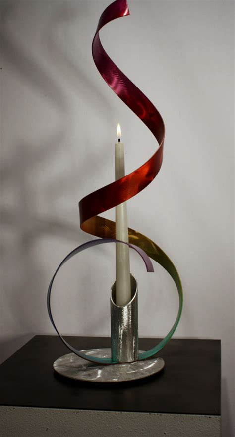 Candelabra Home Decor modern metal art candelabra abstract table sculpture decor