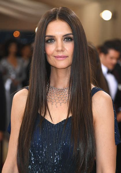 Katie Holmes Long Straight Cut   Hair Lookbook   StyleBistro