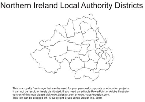 County Map Of Ireland Outline by Blank Map Of Northern Ireland