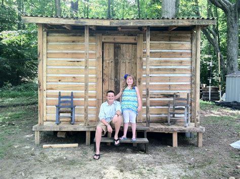 Cabin Out Of Pallets by Cabin Husband Built For Our It Is Made