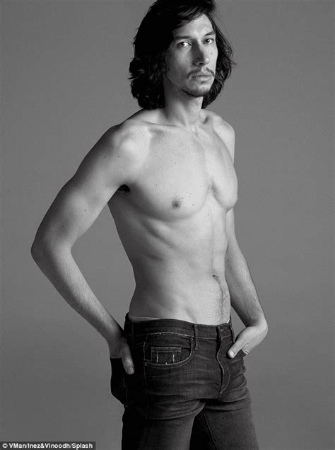 Adam Driver Strips Shirtless For V Man As He Admits He Hates Watching Girls Daily Mail Online