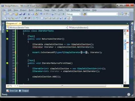 iterator pattern youtube 10 minute c workout iterator youtube