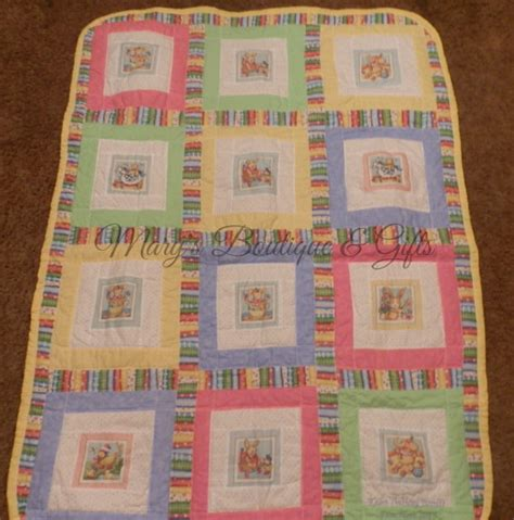 Baby Quilt Crib Size 38 X 45 All Cotton Material Machine Size Of Baby Quilt For Crib