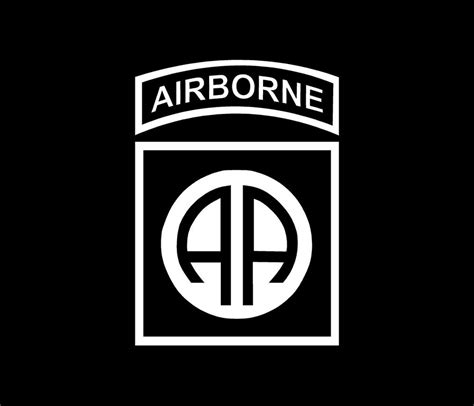 Kaos Airborne Logo 1 Cr by 82nd Airborne Patch Vinyl Decal Car Window Bumper Sticker