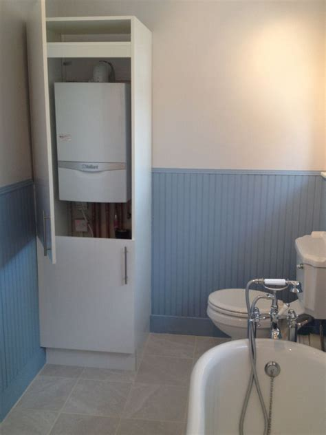 image result for hide a boiler in the bathroom boiler