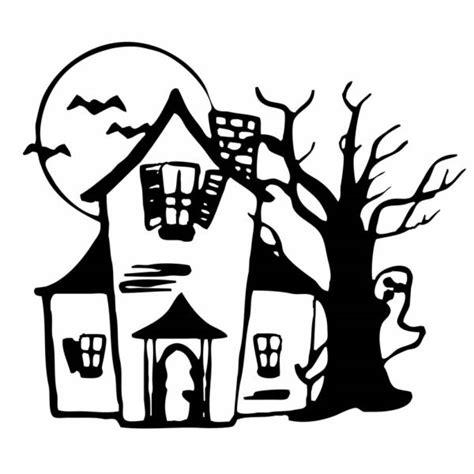 disegno casa disegno di casa con fantasmi da colorare per bambini