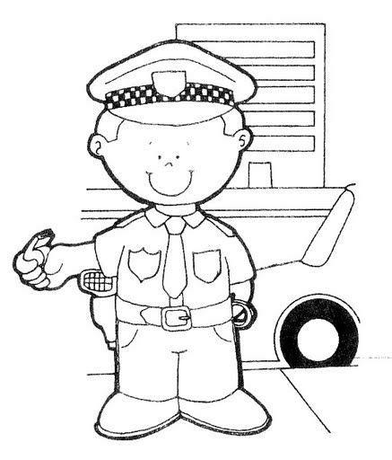 dibujos para colorear de policias policia de transito para colorear buscar con google