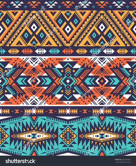 tribal colors retro colors tribal vector seamless navajo stock vector