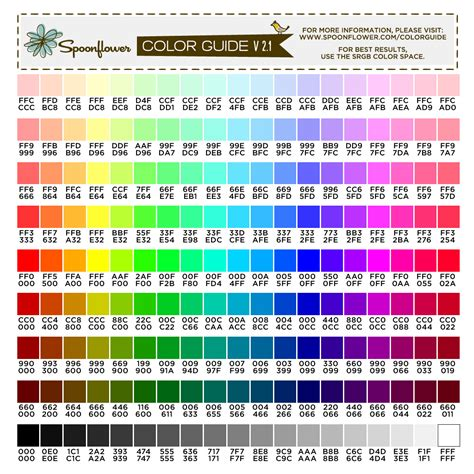 best color codes color guide swatch 171 colors hex codes spoonflower
