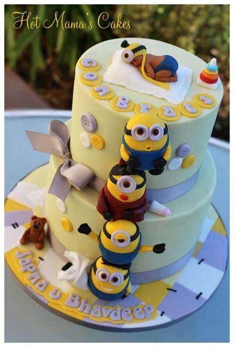Minion Baby Shower Ideas by Minion Baby Cake Baby Baby Showers